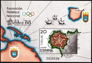 SPAIN 1988 Philately: Stamp Expo EXFILNA'88. Citadel of Pamplona. Military, MNH