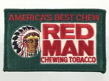 Vintage Embroidered Patch America's Best Chew Red Man Chewing Tobacco Q580