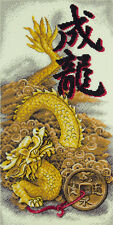 "Counted Cross Stitch Kit PANNA - ""Golden Dragon"""