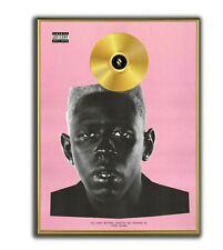 Tylor The Creator Poster, IGOR GOLD/PLATINIUM CD, gerahmtes Poster HipHop Rap