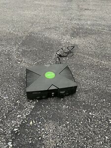 Microsoft Xbox First Generation Console Black Used + DVD Video Adapter