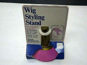 Vintage 1970s Wig Styling Stand w/Pink Suction Cup Base MIP  Norman Kartiganer