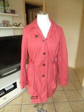 traumschöner Esprit Damen Trenchcoat Mantel Jacke rot Gr. 40 L look