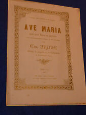 1905 AVE MARIA ancien PARTITION old sheet music orgue messe AUBERTIN champvans