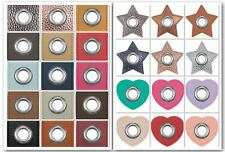 Ösen Patches für Kordeln - Lederimitat - versch.Farben & Muster