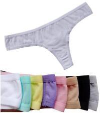 Plus Size Sexy Women's Thong Underwear Women G-String Briefs  2 Pcs WHITE