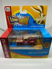 Auto World - 1967 Ford Ice Cream Truck - Red/Brown - Ho Slot Car