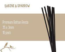 10 Pack_ Premium Reed Diffuser Rattan REEDS/STICKS_Black Long 30cm
