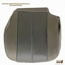 2002 GMC Yukon Denali Front Driver Side Bottom Leather Seat Cover 2-Tone Gray