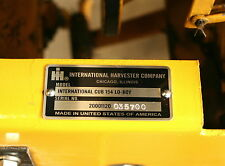 IH CUB 154 LO-BOY RESTORATION ALUMINIUM ID PLATE WITH YOUR SERIAL NUMBER ADDED