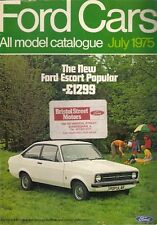 Ford Cars July 1975 UK Market Sales Brochure Escort Cortina Capri Consul Granada
