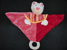 doudou plat chat rose dentition BABY CLUB BABYSUN