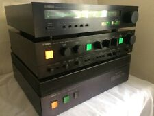Vintage YAMAHA M-4 Power Amp, C-4 Preamp, T-1 Tuner Stereo System *Serviced*