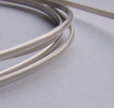 Sterling Silver D-Shape/Section Half Round Wire 2.3, 3, 4, 5, 6,8 mm Silversmith