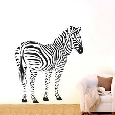 One Large Zebra Wall Decor Removable Vinyl Decal Kids boy Sticker Art DIY Mural