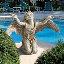 "Al26937 - ""Heavens Devotion"" Angel Statue - Garden, Outdoor -New!"