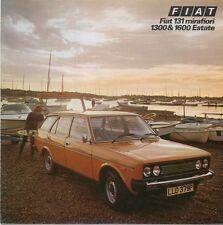 Fiat 131 Mirafiori Estate 1300 & 1600 Special 1975-77 original UK Sales Brochure