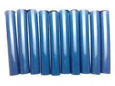 "WHOLESALE LOT of 50 PIECES KING SIZE BLUE Opaque PLASTIC POP TOP BLUNT ""J"" TUBE"