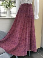 Laura Ashley 70s skirt mythical beast print pink cord vintage size 12 (8) Wales