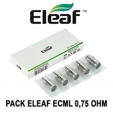 5 résistances ELEAF ECML 0,75 Ohm pour Melo, Melo 2, Melo 3, Ijust 2 et LEMO 3