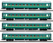 EUROTRAIN 0203 Personenwagen Satz (4 Wagen) RZhD Russland H0