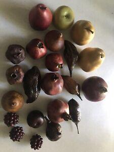 DECORATIVE Artificial/Faux LOT OF 23 - Apple, Pears, Figs, Plum, Others