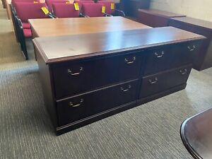 4 DRAWER LATERAL SIZE CREDENZA by KIMBALL OFFICE FURNITURE in MAHOGANY WOOD