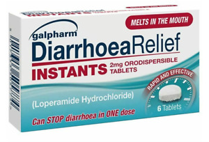 6x6 (36 Tablets) Galpharm Diarrhoea Relief Instant Orodispersible 2mg Tablets