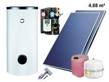 Solaranlage Komplettpaket Warmwasser Flachkollektoren 4,68qm Solarspeicher 300 l