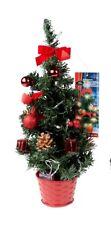 DKB LED Weihnachtsbaum 45 cm rot geschmückt Dekoration Batterie Advent 20 LEDs