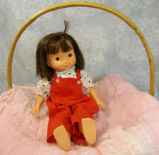 """16"""" Fisher-Price My Friend Jenny Doll 1978 Flower Blouse Red Overalls No Shoes"""