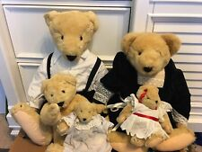 VanderBear Family Christening lot of 5 Nabco Teddy Bears