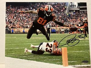 Rashard Higgins Signed Cleveland Browns 8x10 Photo COA