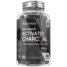 Aktivkohle Kapseln - Verdauung, Entgiftung & Detox mit Aktivkohlepulver 180 Stk.