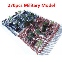 270PCS Soldiers Kit Military Model Playset Figures Army Men Scene Kid Toy  New