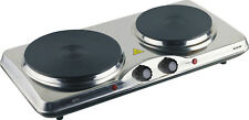Double Portable Hot Plate Electric Burner Stove Cooker HotPlate Cooktop Travel M