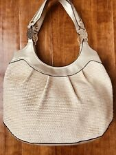 Dana Buchman Gold & Straw Tote Shoulder Style Purse