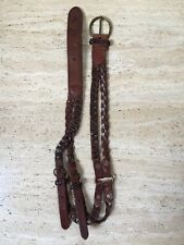 ABERCROMBIE & FITCH BRAIDED LEATHER DOUBLE BELT Size S