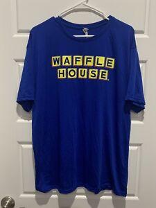 Waffle House Good Food Fast Restaurant Blue T-Shirt Size XL