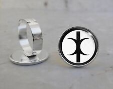 Silver Plated Adjustable Ring Hand of Eris Discordianism