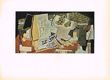 1940s Old Vintage Georges Braque Le Journal Still Life Offset Litho Art Print
