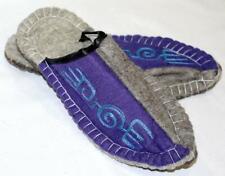 Amazing Uzbek Kyrgyz Felt Wool Handmade Slippers/Shoes Men's Women's Embroidered