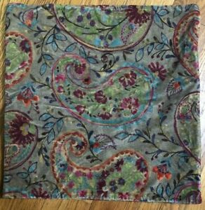 NWT Pottery Barn Multicolored Pillow Cover 20x20 Cotton Poly Velvet