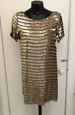 French Connection Gold Sequin Dress Size 10
