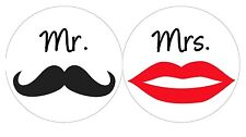 144 Mr. & Mrs. Hershey Kiss Labels - Wedding Favors - Shower Favors - Stickers