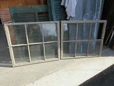 "2 ~ c1800's Antique six pane windows Salvaged from Antique home ~ 33.5"" x 29"""