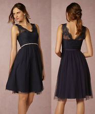 ANTHROPOLOGIE BHLDN NWT Lina Dress by Hitherto Navy Lace Tulle Sz 4 Small $200