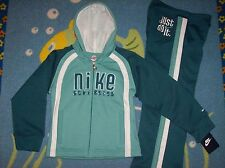 Nike Outfit Jogger Sweatsuit Running Athletics 2 Piece Set Sz 6X Teal Mint NWT