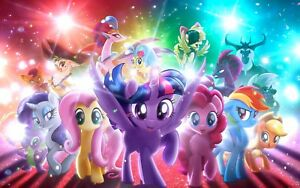 My Little Pony - Children Cartoon Tv Show Large Poster / Canvas Picture Print