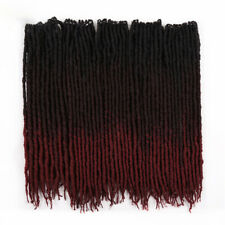 "18"" Faux Locs Synthetic Crochet Braiding Locs Hair Extensions Twist Dreads"